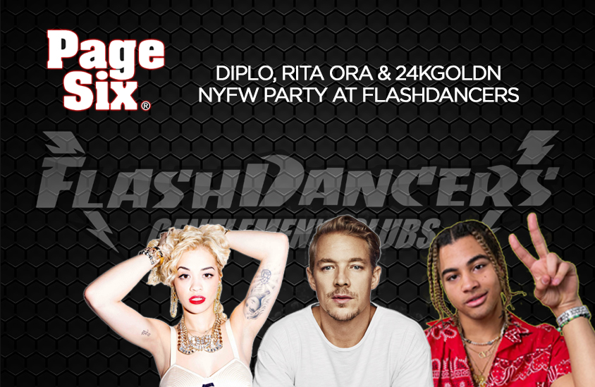 Diplo, Rita Ora & 24KGoldn at FlashDancers